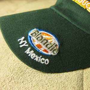 Regular Flat Embroidery on Hat Bill