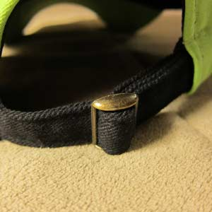 Metal Slide Buckle on Cap