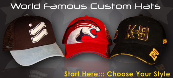 22f4a4038ae Custom Hats and Caps Designed With Your Logo